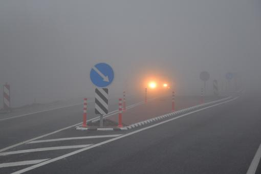 Free Stock Photo of Fog on the road