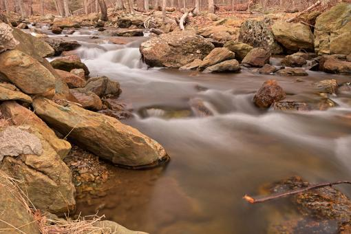 Free Stock Photo of Rocky Cunningham Stream - HDR
