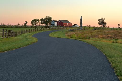 Free Stock Photo of Winding Dawn Road - HDR