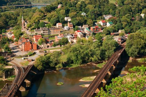Free Stock Photo of Harpers Ferry Overlook