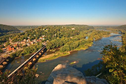 Free Stock Photo of Harpers Ferry Overlook - HDR