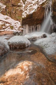 Free Stock Photo of Stream of Frozen Hope - HDR