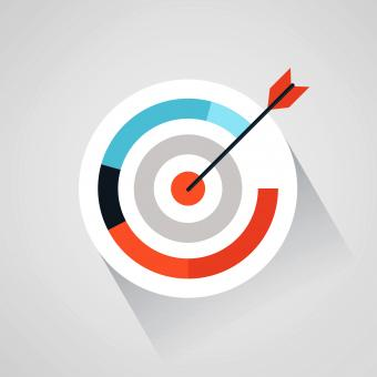 Free Stock Photo of Targeting your audience - Arrow and target