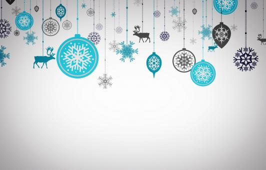 Free Stock Photo of Postcard with Xmas ornaments - Happy Christmas concept