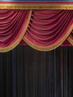 Free Stock Photo of Velvet Stage Curtain