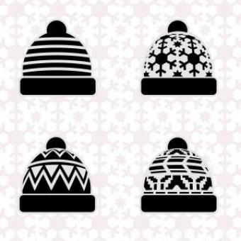 Free Stock Photo of Winter hat set