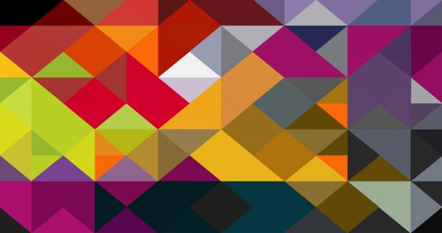 Free Stock Photo of Colorful abstract triangle pattern