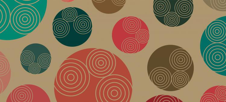 Free Stock Photo of Retro-styled 70s background pattern