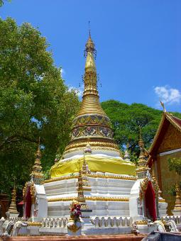 Free Stock Photo of Thai Buddhist temple pagoda