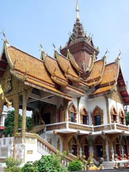 Free Stock Photo of Wat Bupparam Buddhist temple, Thailand