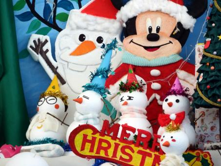 Free Stock Photo of Mickey Mouse Disney Christmas Scene