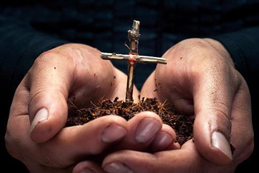 Free Stock Photo of Cross in the hands