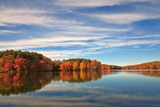 Free Stock Photo of Autumn Liberty Reservoir - HDR