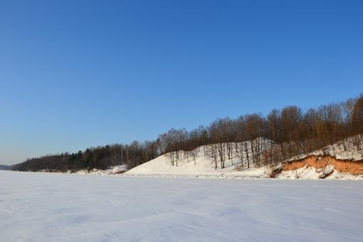 Free Stock Photo of Kaunas reservoir in winter