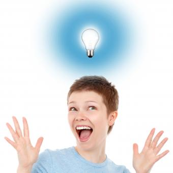 Free Stock Photo of Eureka moment - Woman having an idea