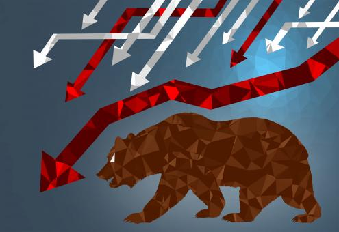 Free Stock Photo of Bear Market - Markets are Falling