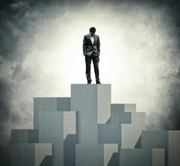 Free Stock Photo of Lonely at the Top - Lone Businessman at the Top