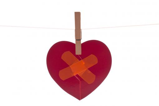 Free Stock Photo of Heart with Band Aid