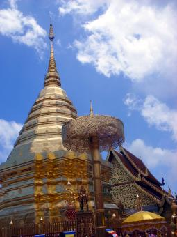 Free Stock Photo of Buddhist Temple Pagoda - Doi Suthep