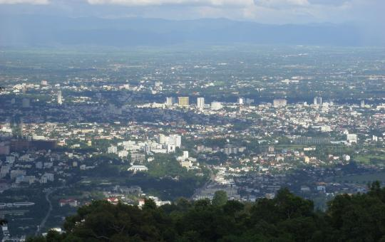 Free Stock Photo of Aerial view of Chiang Mai