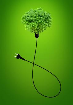 Free Stock Photo of Clean Energy Concept - A Green Power Plug