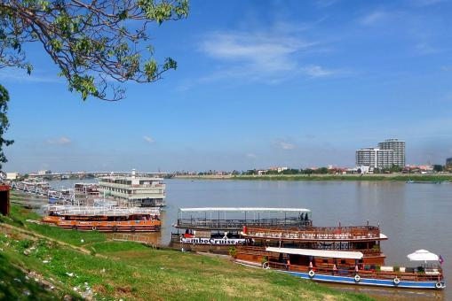 Free Stock Photo of Mekong River cruise boats