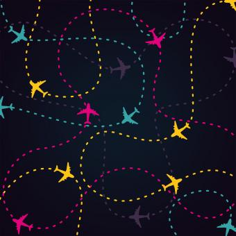 Free Stock Photo of Air Travel - Little Planes and Their Routes
