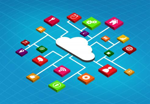 Free Stock Photo of Apps Running in the Cloud