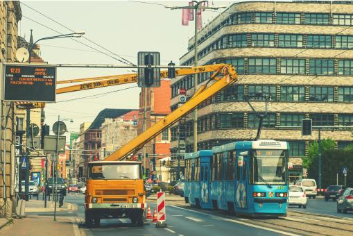Free Stock Photo of Tram in Wroclaw