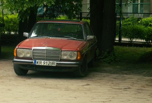 Free Stock Photo of Old Mercedes