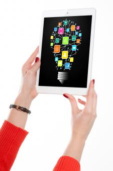 Free Stock Photo of Information Technology Idea on Tablet