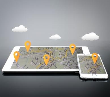 Free Stock Photo of Location Markers on Devices - GPS and Navigation