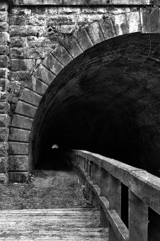 Free Stock Photo of Paw Paw Tunnel - Black & White HDR