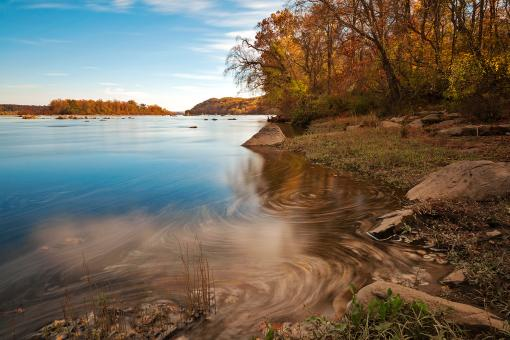 Free Stock Photo of Autumn Susquehanna River
