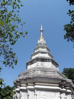 Free Stock Photo of Buddha face on pagoda