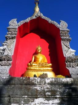 Free Stock Photo of Buddha in pagoda