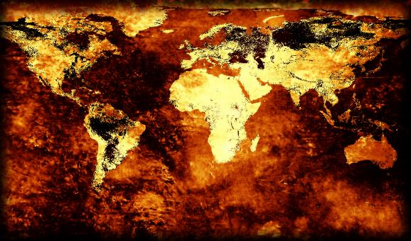 Free Stock Photo of Rusty world map