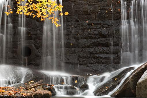 Free Stock Photo of Rock Wall Autumn Falls