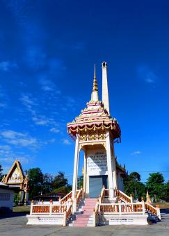 Free Stock Photo of Thai  Buddhist temple crematorium