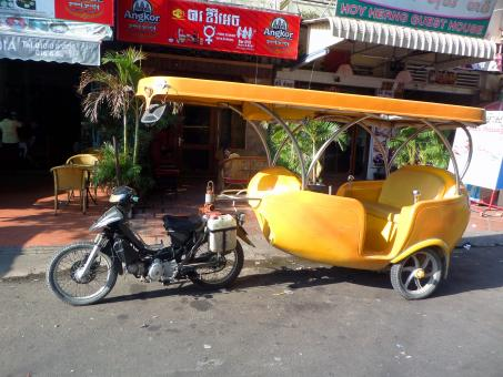 Free Stock Photo of Cambodian tuk tuk taxi