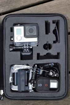 Free Stock Photo of Action camera in a case