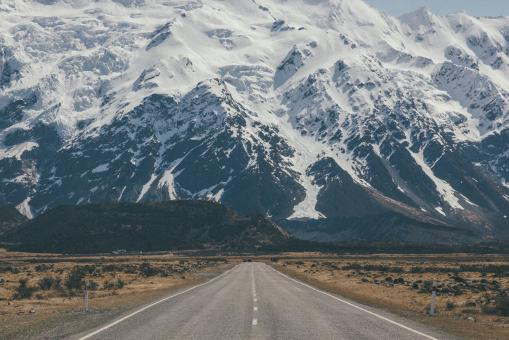 Free Stock Photo of Huge Mountains Ahead