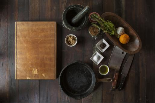 Free Stock Photo of Spices on vintage table