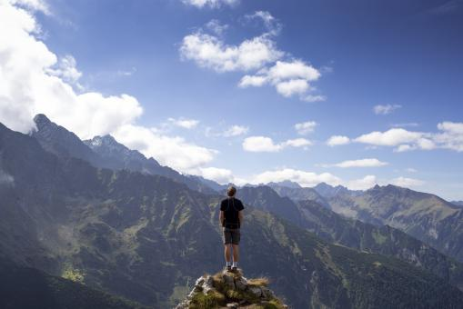 Free Stock Photo of On top of the world