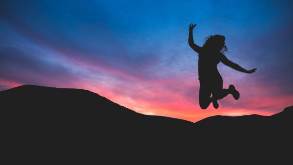 Free Stock Photo of Jump in joy