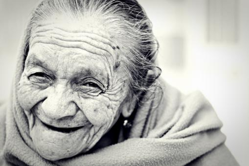 Free Stock Photo of Happy Old Woman