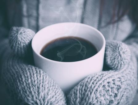 Free Stock Photo of Coffee in the cold
