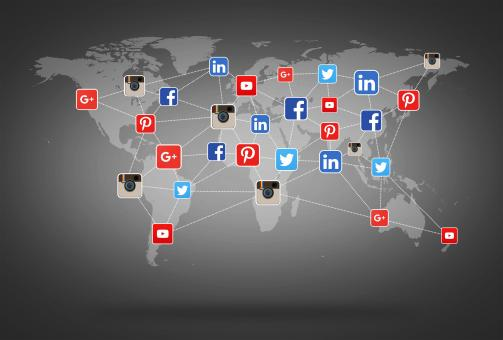 Free Stock Photo of Network of Social Media Networks