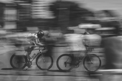 Free Stock Photo of Cycling their way