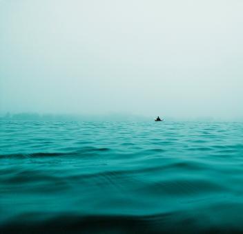 Free Stock Photo of Boating Alone